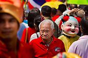Chinese New Year Celebrations in Thanon Yaowarat, the main thoroughfare which threads through Bangkok's Chinatown, Thailand.