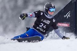 Mirko Felicetti (ITA) during Final Run at Parallel Giant Slalom at FIS Snowboard World Cup Rogla 2019, on January 19, 2019 at Course Jasa, Rogla, Slovenia. Photo byJurij Vodusek / Sportida