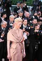 Actress Tilda Swinton at the gala screening of the film Moonrise Kingdom at the 65th Cannes Film Festival. Wednesday 16th May 2012, the red carpet at Palais Des Festivals in Cannes, France.
