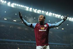 Aston Villa's Gabriel Agbonlahor celebrates his goal. - Photo mandatory by-line: Dougie Allward/JMP - Mobile: 07966 386802 - 24/11/2014 - SPORT - Football - Birmingham - Villa Park - Aston Villa v Southampton - Barclays Premier League