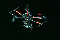 Alpint<br /> FIS World Cup<br /> Foto: Gepa/Digitalsport<br /> NORWAY ONLY<br /> <br /> MADONNA DI CAMPIGLIO,ITALY,22.DEC.15 - ALPINE SKIING - FIS World Cup, night event, slalom, men. Image shows a camera drone