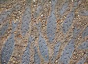 Metal herring fish embedded in pathway, Lowestoft, Suffolk, England