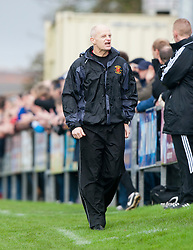 Annan Athletic manager Harry Cairney..Annan Athletic 0 v 3 Falkirk. Semi Final of the Ramsdens Cup, 9/10/2011..Pic © Michael Schofield.