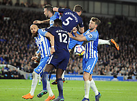 Football - 2017 / 2018 Premier League - Brighton & Hove Albion vs. Tottenham Hotspur<br /> <br /> Bruno and Dale Stephens of Brighton foil Wanyama and Vertonghen, at The Amex.<br /> <br /> COLORSPORT/ANDREW COWIE