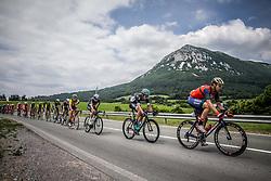 Aleksejs Saramotins (LAT) of Bora - Hansgrohe, Jon Ander Insausti Irastorza (ESP) of Bahrain-Merida during Stage 1 of 24th Tour of Slovenia 2017 / Tour de Slovenie from Koper to Kocevje (159,4 km) cycling race on June 15, 2017 in Slovenia. Photo by Vid Ponikvar / Sportida