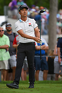 Kevin Na (USA) watches his tee shot on 3 during round 3 of the 2019 Charles Schwab Challenge, Colonial Country Club, Ft. Worth, Texas,  USA. 5/25/2019.<br /> Picture: Golffile | Ken Murray<br /> <br /> All photo usage must carry mandatory copyright credit (© Golffile | Ken Murray)