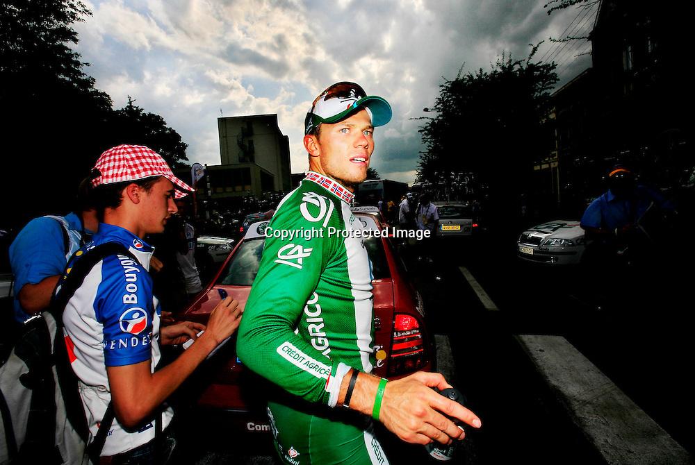 20060605. Saint-Quentin. Thor Hushovd kom på fjerdeplass på den 4 etappen i Tour de France. .Foto: Daniel Sannum Lauten/ Dagbladet