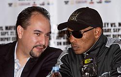 "LOS ANGELES, California (September, 24 2008) – Three-Time World Champion Ricardo ""El Matador"" Mayorga shows off at The Millennium Biltmore Hotel Los Angeles Press Conference September 24, 2008."