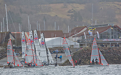 The RYA Youth National Championships Day <br /> Day 4.<br /> <br /> Largs Sailing Club, launching<br /> <br /> Images: Marc Turner / RYA<br /> <br /> For further information contact:<br /> <br /> Richard Aspland, <br /> RYA Racing Communications Officer (on site)<br /> E: richard.aspland@rya.org.uk<br /> m: 07469 854599