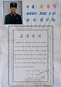 ARMY TIME IN NORTH KOREA<br /> The very first order you receive from your guide when arriving in North Korea is NOT to take pictures of the soldiers. This is difficult as you see them everywhere at any occasion, so the temptation is high!<br /> <br /> Their uniforms seem to come from the 50s. and it is! The Korean People's Army was created in 1948 in the Soviet occupation zone of Korea. So, the uniforms were copied from the USSR.<br /> <br /> You will see soldiers in the morning, in the main squares of Pyongyang, when  soldiers rehearse their parade for hours. They do not like to have witnesses as everything is not -yet- perfect but have no choice as they need huge spaces to train. Each soldier has a number to allow the officers to tell who is good and who is bad.<br /> <br /> You will see them in the countryside when you leave the big towns. <br /> Many soldiers are used as a labor force to compensate for the ineffective North Korean economy, so the army is not only about military organization.<br /> During my 6 trips in North Korea, i saw so many soldiers collecting wood and carrying it along the roads. Wood for heating and for eating. North Korean soldiers can be seen working in fields, farms, or on construction sites in many places, far from military exercises.<br /> <br /> You will see them in pictures when visiting the school or the universities: at the entrance, some letters are displayed on the walls, showing the picture of a young man in uniform above a short text. They are letters from former school students that joined the army and who tell about their lifes as  soldiers. Of course everything is fantastic and they write they are so proud to serve their nation.<br /> <br /> In North Korea, most of the soldiers serve in military for 10 years, female soldiers serve  for seven years. Some high level students only serve few years to work quickly and to be more efficient than when they carry wood…<br /> Once in the army, the contacts with the families is very c