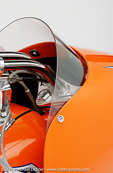 """""""Orange Luxury Liner,"""" built by Arlen Ness. Appears in book """"The King of Choppers,"""" by Michael Lichter and Arlen Ness and foreward by Sonny Barger."""