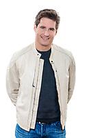 one  man mature handsome portrait studio white background