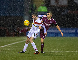 Airdrie's Dean Cairns and Arbroath's Mark Whatley. Airdrie 0 v 1 Arbroath, Scottish Football League Division One played 15/12/2018 at Airdrie's Excelsior stadium.