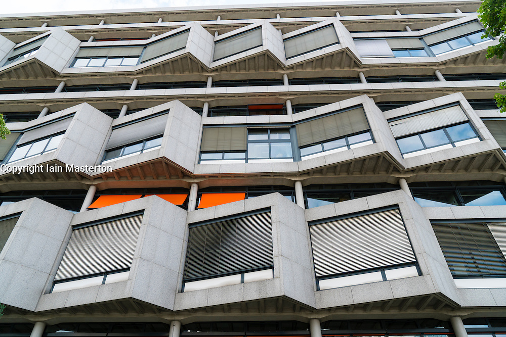 Facade of Department of Architecture building at Technical University of Berlin, Germany