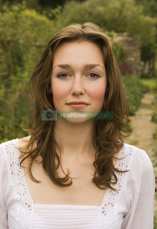Aug. 08, 2008 - A portrait of a female in a garden. Model and Property Released (MR&PR) (Credit Image: © Cultura/ZUMAPRESS.com)