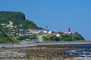 Village of La Martre with church and lighthouse<br />La Martre<br />Quebec<br />Canada