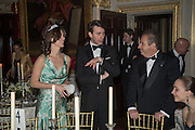 ALINA BREZHENEVA, TOM BEST, Professor Mikhail Piotrovsky Director of the State Hermitage Museum, St. Petersburg and <br /> Inna Bazhenova Founder of In Artibus and the new owner of the Art Newspaper worldwide<br /> host THE HERMITAGE FOUNDATION GALA BANQUET<br /> GALA DINNER <br /> Spencer House, St. James's Place, London<br /> 15 April 2015
