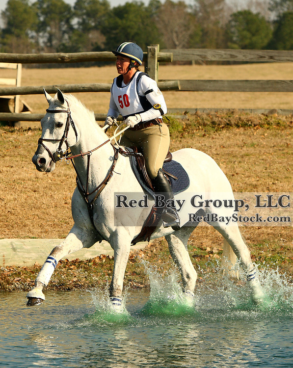 Becky Holder and Courageous Comet at the Pine Top Winter II Horse Trials in Thomson, Georgia.