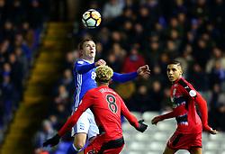 Craig Gardner of Birmingham City heads the ball - Mandatory by-line: Robbie Stephenson/JMP - 06/02/2018 - FOOTBALL - St Andrew's Stadium - Birmingham, England - Birmingham City v Huddersfield Town - Emirates FA Cup fourth round proper