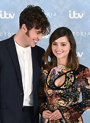 Jenna Coleman and Tom Hughes attending the Season 2 Premiere of ITV's Victoria held at the Ham Yard Hotel, London