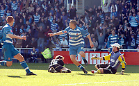 Photo: Kevin Poolman.<br />Reading v Derby County. Coca Cola Championship. 01/04/2006. James Harper celebrates his goal.