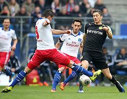 Football: Germany, 1. Bundesliga<br /> Tomas Rincon (Hamburger SV, HSV), Robert Lewandowski (Borussia Dortmund, BVB)