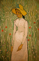 National Gallery, Washington DC. Painting by Van Gogh of woman in a wheat field with poppies