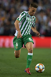 February 28, 2019 - Valencia, Valencia, Spain - Sergio Canales of Betis in action during the Copa del Rey Semi Final match second leg between Valencia CF and Real Betis Balompie at Mestalla Stadium in Valencia, Spain on February 28, 2019. (Credit Image: © Jose Breton/NurPhoto via ZUMA Press)