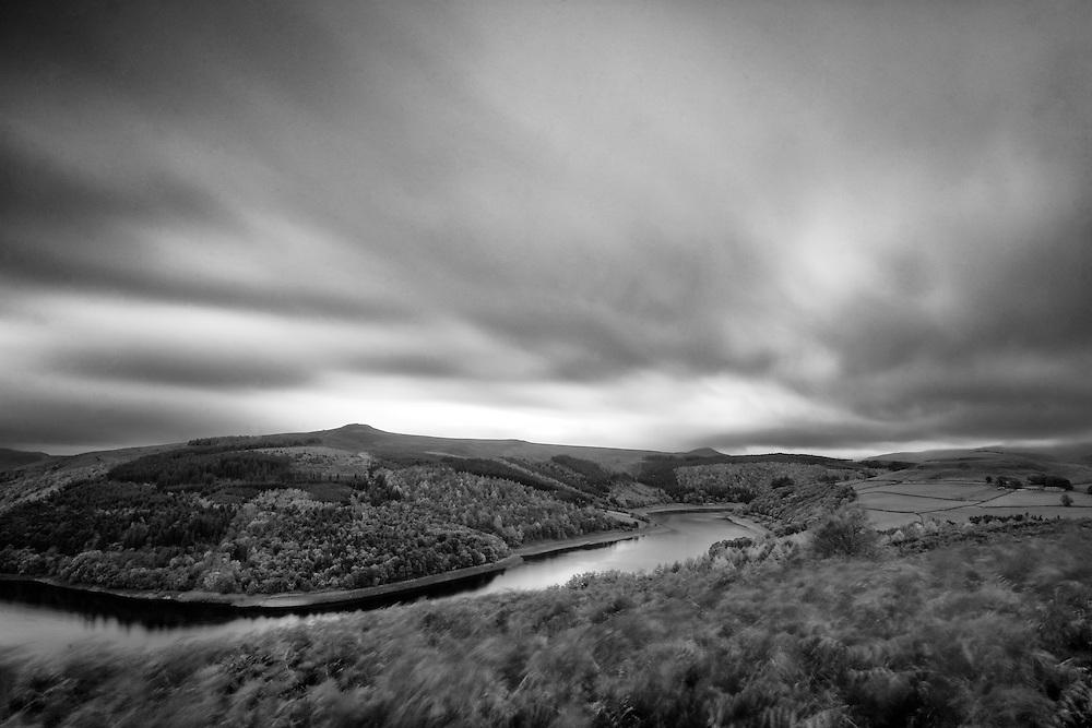 Ladybower reservoir in the Peak District, UK.