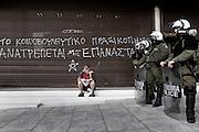 Graffiti from recent demonstration