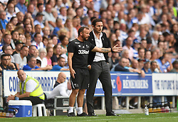 Derby County manager Frank Lampard (right) and Jody Morris (left) on the touchline