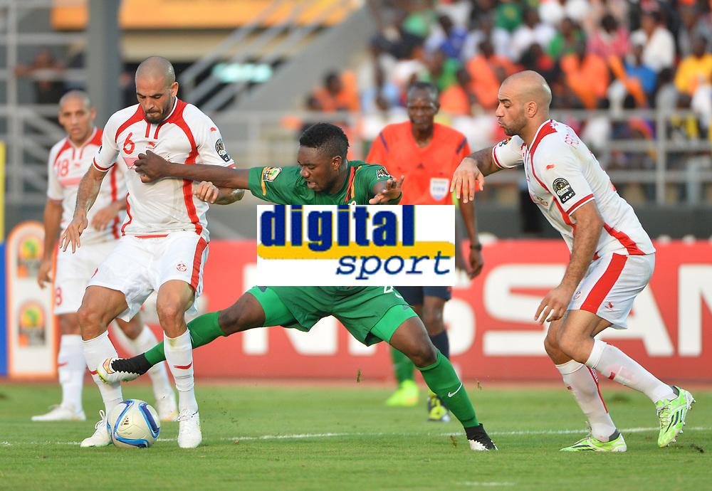Emmanuel Mayuka (ZAM) vs Aymen Abdennour et Hocine Ragued (TUN)