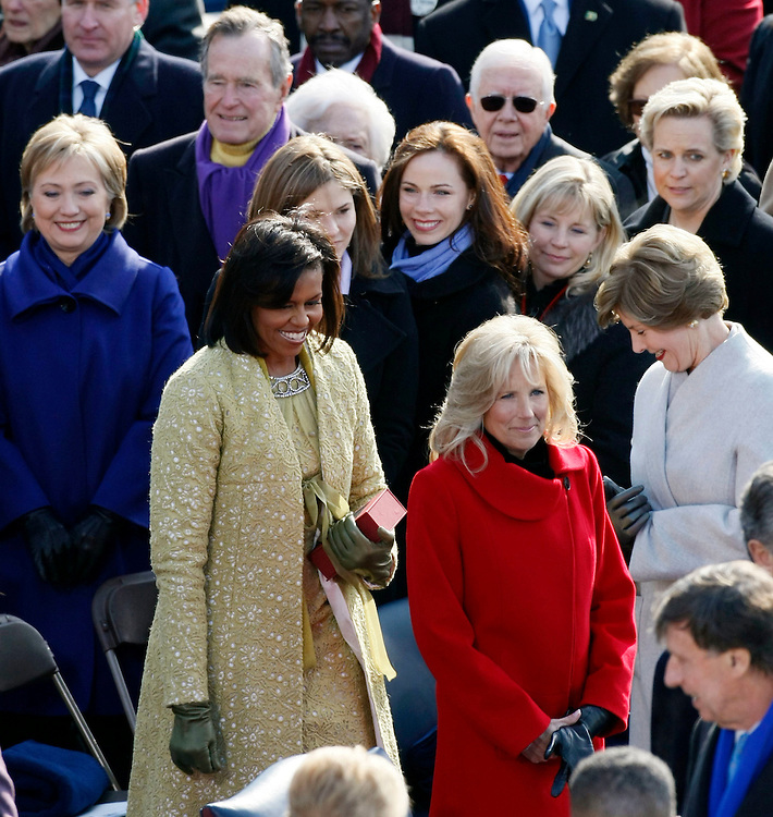 during the inauguration ceremony in Washington, January 20, 2009. REUTERS/Rick Wilking (UNITED STATES)