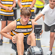 1:14 PM- Grassroots Trust #22 Heat 1- Men?s 1000m U16, U17<br /> <br /> NZ Indoor Champs, raced at Avanti Drome, Cambridge, New Zealand, Saturday 23rd November 2019 © Copyright Steve McArthur / @rowingcelebration www.rowingcelebration.com