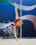 Chiara Rosso from Iris team during the Italian Rhythmic Gymnastics Championship in Padova, 25 November 2017.