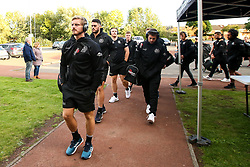 Exeter Chiefs arrive at Kingston Park ahead of their Gallagher Premiership fixture against Newcastle Falcons - Mandatory by-line: Robbie Stephenson/JMP - 21/09/2018 - RUGBY - Kingston Park Stadium - Newcastle upon Tyne, England - Leicester Tigers v Exeter Chiefs - Gallagher Premiership