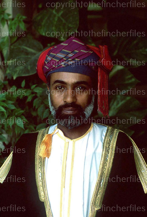 Sultan Qaboos of the Oman photographed in his palace in Muscat, Oman in 1982. Photograph by Terry Fincher