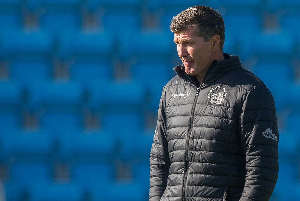 Exeter Chiefs' Head Coach Rob Baxter<br /> <br /> Photographer Bob Bradford/CameraSport<br /> <br /> European Rugby Heineken Champions Cup Semi-Final - Exeter Chiefs v Toulouse - Saturday 26th September 2020 - Sandy Park - Exeter<br /> <br /> World Copyright © 2019 CameraSport. All rights reserved. 43 Linden Ave. Countesthorpe. Leicester. England. LE8 5PG - Tel: +44 (0) 116 277 4147 - admin@camerasport.com - www.camerasport.com