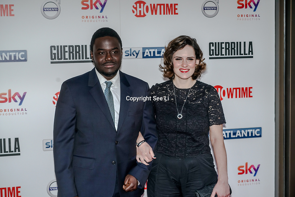 London,England,UK. 6th April, 2017. Babou Ceesay ,Anna Ceesay attends the UK premiere of Sky Original Production Guerrilla at The Curzon,Bloomsbury,London,UK. by See Li