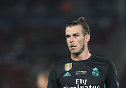 August 8, 2017 - Skopje, Macedonia - Real Madrid's Welsh forward Gareth Bale reacts during the UEFA Super Cup football match between Real Madrid and Manchester United on August 8, 2017, at the Philip II Arena in Skopje. (Credit Image: © Ahmad Mora/NurPhoto via ZUMA Press)