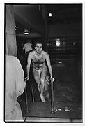 Viscount Halifax of Mackingtosh at the Lords/Commons Swim 1986. ONE TIME USE ONLY - DO NOT ARCHIVE  © Copyright Photograph by Dafydd Jones 66 Stockwell Park Rd. London SW9 0DA Tel 020 7733 0108 www.dafjones.com