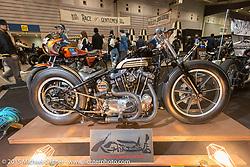 Custom 1973 Harley-Davidson XLH 900 Sportster at the Mooneyes Yokohama Hot Rod & Custom Show. Yokohama, Japan. December 6, 2015.  Photography ©2015 Michael Lichter.
