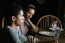 RELEASE DATE: June 9, 2017 TITLE:  It Comes At Night STUDIO: A24 DIRECTOR: Trey Edward Shults PLOT: Secure within a desolate home as an unnatural threat terrorizes the world, a man has established a tenuous domestic order with his wife and son. Then a desperate young family arrives seeking refuge. STARRING: KELVIN HARRISON JR. as Travis, CARMEN EJOGO as Sarah. (Credit Image: © A24/Entertainment Pictures/ZUMAPRESS.com)