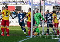 Dundee's Kane Hemmings cele scoring their first goal. Dundee 2 v 0 Partick Thistle, Scottish Championship game played 8/2/2020 at Dundee stadium Dens Park.