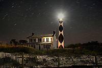 NC00884-00...NORTH CAROLINA - Cape Lookout Lighthouse and Keepers House on the South Core Banks in Cape Lookout National Seashore.