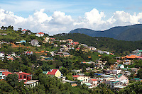Dalat is located in the Central Highlands of Vietnam.  The small city was originally designed as a hill station for the French colonists and administrators who built villas in the cool mountain air to escape the heat and humidity of Saigon.  The city is built among pine covered hills with a small man-made lake in the center, surrounded mountains.  Dalat's high altitude 1500 metres above sea level and fertile landscape make it one of Vietnam's premier agricultural areas, producing a wide variety of fruits, vegetables, tea, coffee and flowers.  The town of Dalat has many nicknames: Le Petit Paris, City of Pines and Town of Eternal Spring to name a few