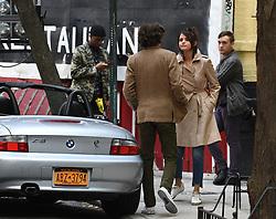 Selena Gomez films on set in downtown manhattan New York, directed by Woody Allen<br /><br />11 September 2017.<br /><br />Please byline: Vantagenews.com