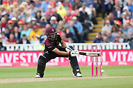 Somersets Corey Anderson bowled during the Vitality T20 Finals Day semi final 2018 match between Sussex Sharks and Somerset at Edgbaston, Birmingham, United Kingdom on 15 September 2018.