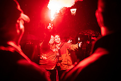 September 18, 2017 - Ljubljana, Slovenia, Slovenia - celebrating after Slovenian basketball team historical win in European Championship in Istanbul on September 18, 2017 in Ljubljana, Slovenia. (Credit Image: © Damjan Zibert/NurPhoto via ZUMA Press)