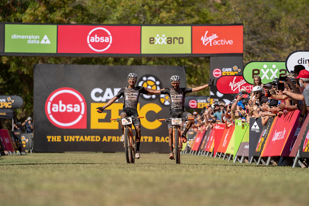 during stage 6 of the 2019 Absa Cape Epic Mountain Bike stage race from the University of Stellenbosch Sports Fields in Stellenbosch, South Africa on the 23rd March 2019<br /> <br /> Photo by Nick Muzik/Cape Epic<br /> <br /> PLEASE ENSURE THE APPROPRIATE CREDIT IS GIVEN TO THE PHOTOGRAPHER AND ABSA CAPE EPIC